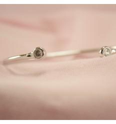 Forsølvet armbånd med krystal