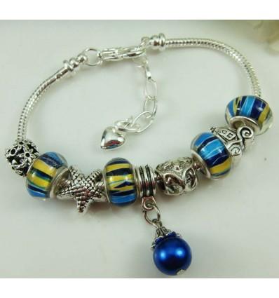 Blå perle