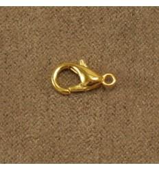 Karabinlås, guldfarvet