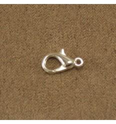 Karabinlås, sølvfarvet