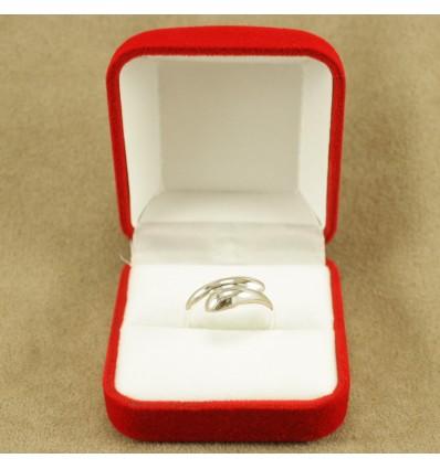 Klassisk ringæske til 1 ring, rød/hvid