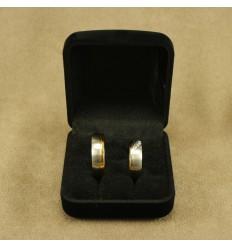 Klassisk ringæske til 2 ringe, sort/sort