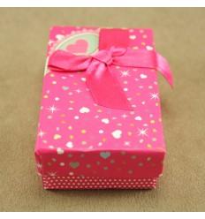 Hjerte smykkeæske, pink
