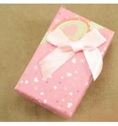 Hjerte smykkeæske, lyserød