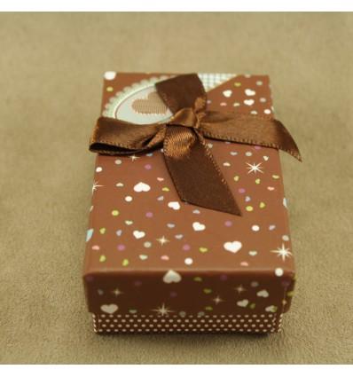 Hjerte smykkeæske, brun
