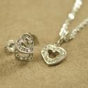 Smykkesæt med lille hjerte