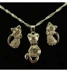 Sødt katte smykkesæt