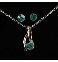 Enkelt smykkesæt - Blå