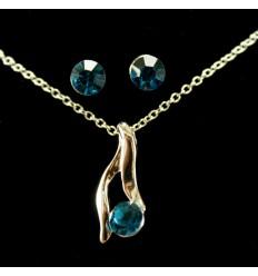 Enkelt smykkesæt - Mørkblå