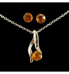 Enkelt smykkesæt - Orange