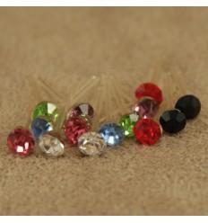 Små søde ørestikkere i flere farver, 3 mm