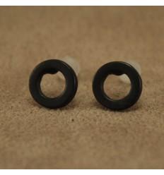 Runde ørestikkere, sort