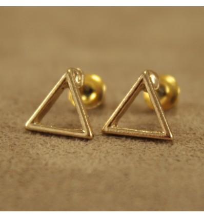 Hul guldfarvet triangel