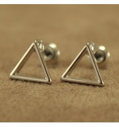 Hul sølvfarvet triangel