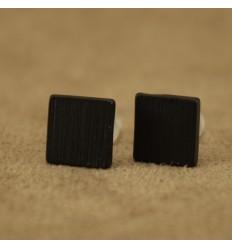 Firkantet børstet ørestik, sort