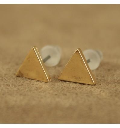 Solid guldfarvet triangel