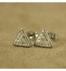 Trekant ørestik med små krystaller
