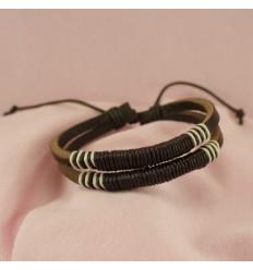 Afrikansk læderarmbånd