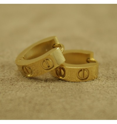 Creoler, guldfarvet med skruehoveder