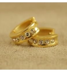 Guldfarvet creol med klare krystaller