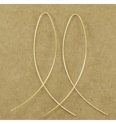 Simpel tynd guldfarvet ørehænger