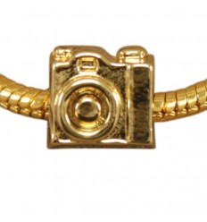 Kamera, guldfarvet