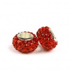 Rød krystalcharm