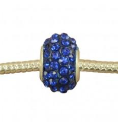Mørk blå krystalcharm
