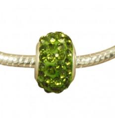Grøn krystalcharm