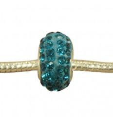 Tyrkis blå krystalcharm