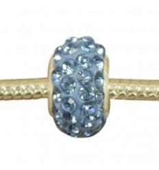 Pastel blå krystalcharm
