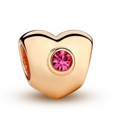 Golden heart, pink crystal