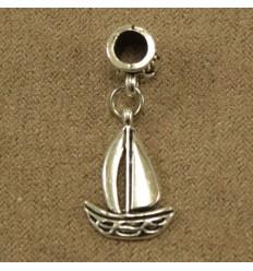 Vedhæng til charm - Sejlbåd