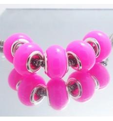 Pink glascharm