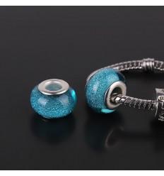 Speciel glascharm, lys blå
