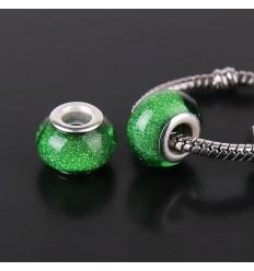 Speciel glascharm, grøn