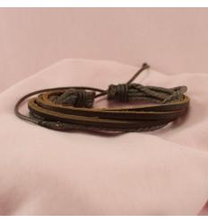 Smart flerstrenget læderarmbånd