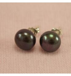 Perle ørestikkere - sort
