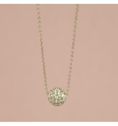 Sølvfarvet krystal kugle