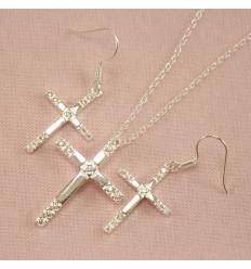 Smykkesæt med kors