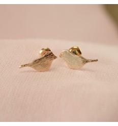 Perle ørestikkere - lilla