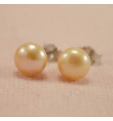 Perle ørestikkere - rosa