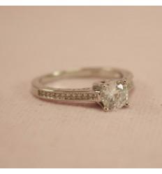 Prinsesse ring med klar CZ krystal