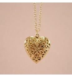 Hjerte medaljon, Guldfarve
