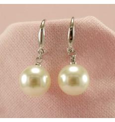 Ørehænger med simili perle