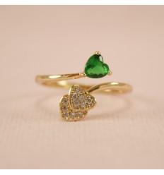 Forgyldt grønt hjerte