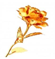 Guldfarvet orkide armbånd
