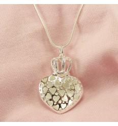 Hjerte Halskæde med krone