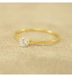 Tynd prinsesse ring, forgyldt