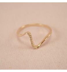 Dråbe ring, rosaguld
